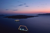 Cyclades island at dawn, Cyclades,  Santorin Greece, Greece, Europe