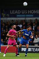 Aaron Wilbraham of Rochdale AFC and Will Nightingale of AFC Wimbledon during AFC Wimbledon vs Rochdale, Sky Bet EFL League 1 Football at the Cherry Red Records Stadium on 5th October 2019