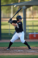 AZL White Sox Daniel Millwee (45) at bat during an Arizona League game against the AZL Royals at Camelback Ranch on June 19, 2019 in Glendale, Arizona. AZL White Sox defeated AZL Royals 4-2. (Zachary Lucy/Four Seam Images)