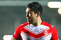 Picture by Alex Whitehead/SWpix.com - 28/03/2014 - Rugby League - First Utility Super League - St Helens v Leeds Rhinos - Langtree Park , St Helens, England - St Helens' Andre Savelio.