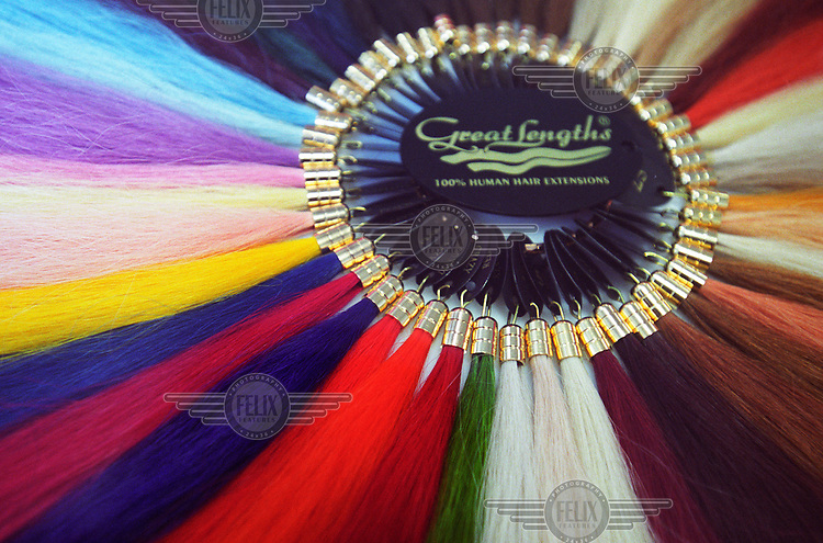 Great Lengths hair extensions, made from human hair.