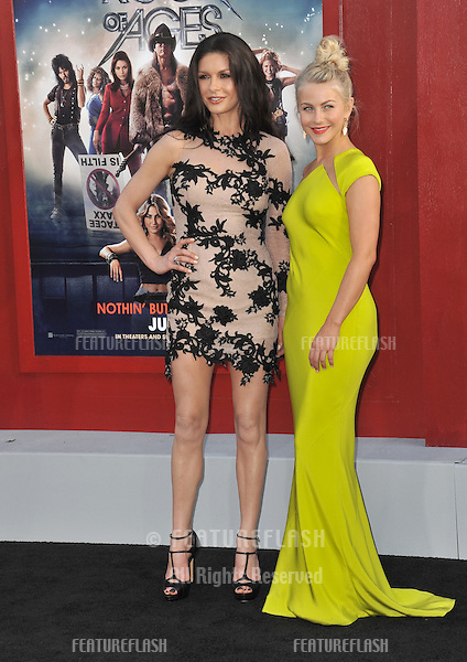 """Catherine Zeta-Jones & Julianne Hough (right) at the world premiere of their new movie """"Rock of Ages"""" at Grauman's Chinese Theatre, Hollywood..June 9, 2012  Los Angeles, CA.Picture: Paul Smith / Featureflash"""