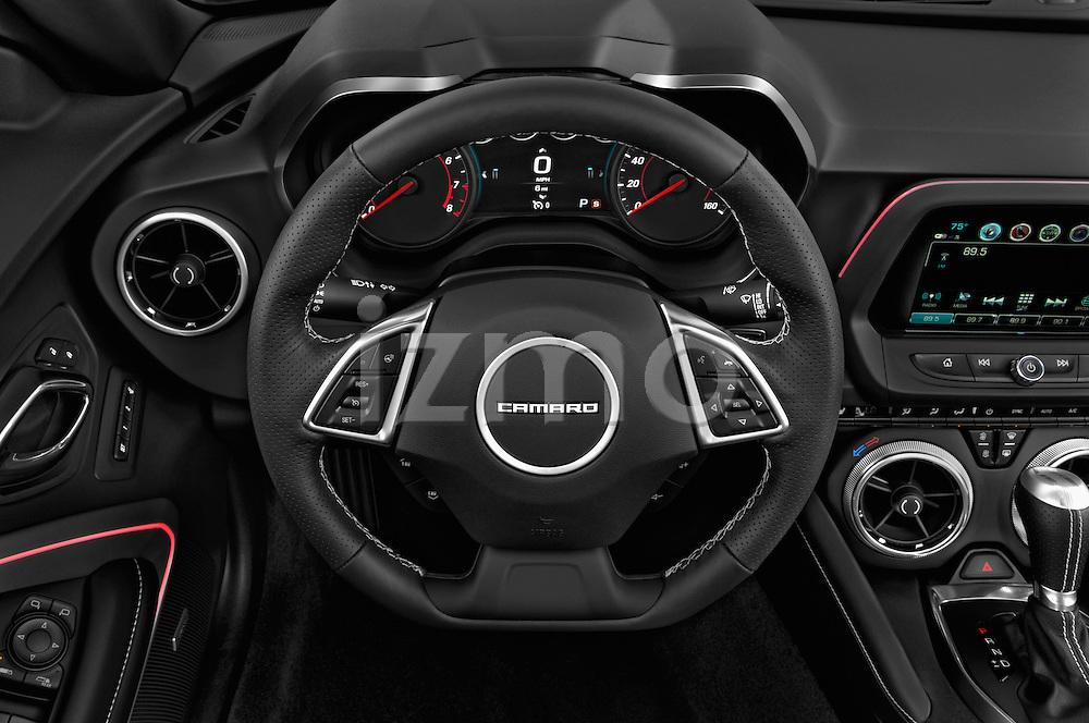 Car pictures of steering wheel view of a 2016 Chevrolet Camaro 2SS 2 Door Coupe Steering Wheel