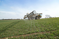 Applying liquid nitrogen to winter wheat - Leicestershire, March