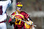 Los Angeles, CA 02/20/10 - Kameron Burke (USC # 27) in action during the USC-Loyola Marymount University MCLA/SLC divisional game at Leavey Field (LMU).  LMU defeated USC 10-7.