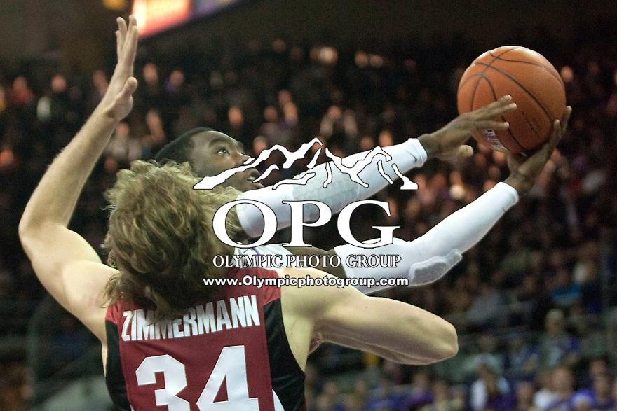 Jan 21, 2012:  Washington's #14 Tony Wroten against Stanford.  Washington defeated Stanford 76-63 at Alaska Airlines Arena Seattle, Washington...