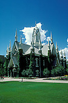 Utah, Salt Lake City, Assembly Hall at Temple Square..Photo # utsalt609.  Photo copyright Lee Foster.  .