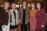 NWA Democrat-Gazette/CARIN SCHOPPMEYER Abby Foster (from left), Becky Paneitz, Karilea Magee, Katy Jordan and Taryn Beck enjoy the Dress for Success brunch.