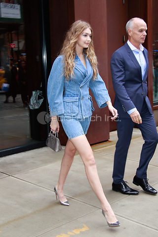 NEW YORK, NY - OCTOBER 11: Gigi Hadid  is seen on October 11, 2018 in New York City. Credit: DC/MediaPunch