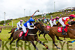 Action from the Barr na Sraide Plate at the Cahersiveen Races on Sunday with the Green Monkey out in front.