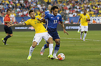 Foxborough, Mass. - Tuesday, September 8, 2015: The USMNT go down 0-1 to Brazil in first half play in an international friendly game at Gillette stadium.