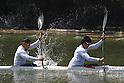 (L to R) Momotaro Matsushita, Hiroki Watanabe, .MARCH 29, 2012 - Canoeing : .2012 International Canoeing Competitions Selection Trial & The 22th Fuchuko Canoe Regatta, .Men's Kayak Double 200m Final at Lake Fuchu, Kagawa Japan. (Photo by Akihiro Sugimoto/AFLO SPORT)