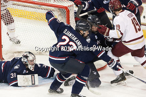 Rob Nichols (UConn - 31), Kasperi Ojantakanen (UConn - 23), David Drake (UConn - 22), Ryan Fitzgerald (BC - 19) - The Boston College Eagles defeated the visiting University of Connecticut Huskies 3-2 on Saturday, January 24, 2015, at Kelley Rink in Conte Forum in Chestnut Hill, Massachusetts.