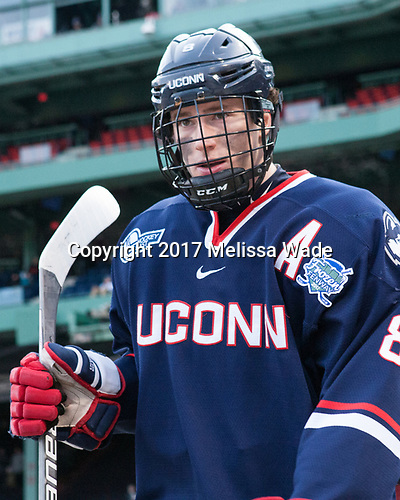 Spencer Naas (UConn - 8) - The University of Maine Black Bears defeated the University of Connecticut Huskies 4-0 at Fenway Park on Saturday, January 14, 2017, in Boston, Massachusetts.