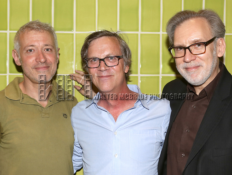 Todd Haynes visits Composers Scott Frankel and Michael Koriethe and the cast of 'Far From Heaven' at the   Playwrights Horizons in New York City  on June 20, 2013.