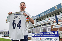 New Essex CCC signing Peter Siddle poses for a photograph with his County Championship shirt at The Cloudfm County Ground on 12th April 2018