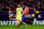 Luis Suarez of FC Barcelona (L) in action during the La Liga 2018-19 match between Atletico Madrid and FC Barcelona at Wanda Metropolitano on November 24 2018 in Madrid, Spain. Photo by Diego Souto / Power Sport Images