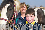Healing horses: Patrick O'Mahony from Balloonagh School in Tralee with volunteer Mary Walsh at the Listowel Equestrian Centre on Friday.   Copyright Kerry's Eye 2008
