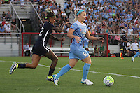 Piscataway, NJ - Saturday Aug. 27, 2016: Tasha Kai, Julie Johnson during a regular season National Women's Soccer League (NWSL) match between Sky Blue FC and the Chicago Red Stars at Yurcak Field.