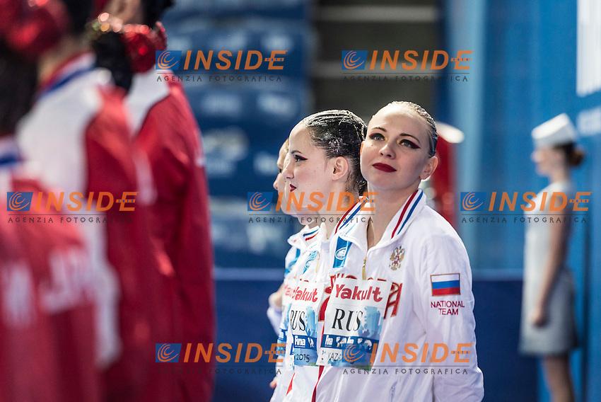 Podium<br /> Gold Medal<br /> Russia RUS<br /> TIMANINA Angelica<br /> Day 9 01/08/2015<br /> XVI FINA World Championships Aquatics<br /> Synchro<br /> Kazan Tatarstan RUS July 24 - Aug. 9 2015 <br /> Photo Giorgio Scala/Deepbluemedia/Insidefoto