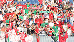 23 May 2006: Morocco fans cheer their team. The United States Men's National Team lost 1-0 to their counterparts from Morocco at the Nashville Coliseum in Nashville, Tennessee in a men's international friendly soccer game.