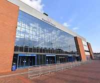 A general view of Ewood Park, home of Blackburn Rovers<br /> <br /> Photographer Dave Howarth/CameraSport<br /> <br /> The EFL Sky Bet Championship - Blackburn Rovers v Derby County -Tuesday 9th April 2019 - Ewood Park - Blackburn<br /> <br /> World Copyright &copy; 2019 CameraSport. All rights reserved. 43 Linden Ave. Countesthorpe. Leicester. England. LE8 5PG - Tel: +44 (0) 116 277 4147 - admin@camerasport.com - www.camerasport.com