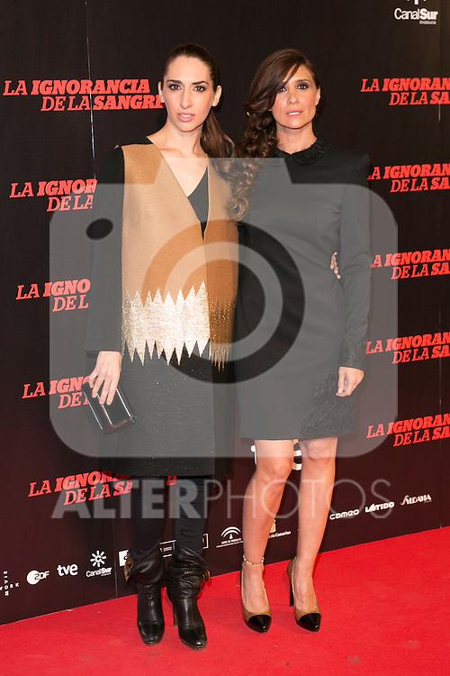 "Nur Levi and Maria Botto attends ""La Ignorancia de la Sangre"" Premiere at Capitol Cinema in Madrid, Spain. November 13, 2014. (ALTERPHOTOS/Carlos Dafonte)"