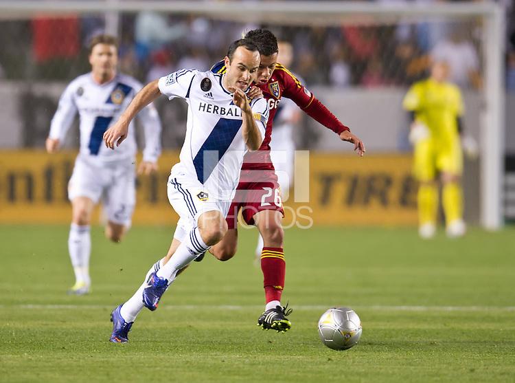 CARSON, CA - March 10,2012: LA Galaxy midfielder Landon Donovan (10) during the LA Galaxy vs Real Salt Lake match at the Home Depot Center in Carson, California. Final score LA Galaxy 1, Real Salt Lake 3.