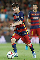 FC Barcelona's Leo Messi during Supercup of Spain 2nd match.August 17,2015. (ALTERPHOTOS/Acero)