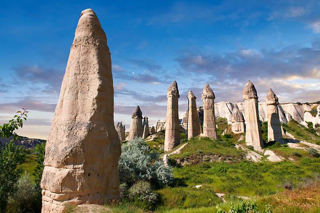 "The fairy chimney rock formations and rock pillars of ""love Valley"" near Goreme, Cappadocia, Nevsehir, Turkey"