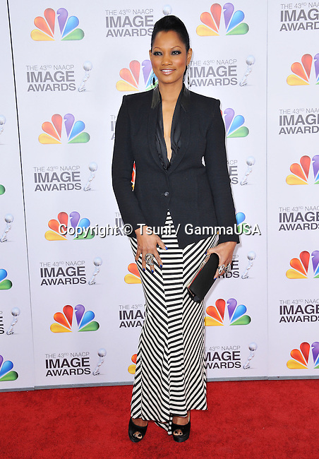 Garcelle Beauvais  at the 43rd NAACP Image Awards-2012 at the Shrine Auditorium in Los Angeles.