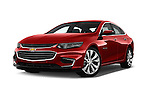 Stock pictures of low aggressive front three quarter view of 2016 Chevrolet Malibu 2LZ 4 Door Sedan Low Aggressive