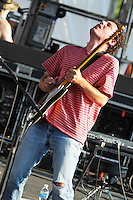 Ira Kaplan from Yo La Tengo performs at he final Pool Parties Concert in McCarren Park  , Brooklyn NYC