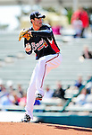 5 March 2010: Atlanta Braves' pitcher Derek Lowe on the mound during a Spring Training game against the Washington Nationals at Champion Stadium in the ESPN Wide World of Sports Complex in Orlando, Florida. The Braves defeated the Nationals 11-8 in Grapefruit League action. Mandatory Credit: Ed Wolfstein Photo