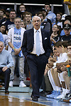 CHAPEL HILL, NC - DECEMBER 20: UNC head coach Roy Williams. The University of North Carolina Tar Heels hosted the Wofford College Terriers on December 20, 2017 at Dean E. Smith Center in Chapel Hill, NC in a Division I men's college basketball game. Wofford won the game, upsetting UNC, 79-75.