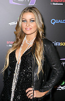 CARMEN ELECTRA .At SWAGG VIP Kid Rock Concert at the Joint inside the Hard Rock Hotel and Casino, Las Vegas, Nevada, USA,.7th January 2010..half length black leather jacket  necklace  pearls beads hand on hip eyeliner make-up.CAP/ADM/MJT.© MJT/AdMedia/Capital Pictures.