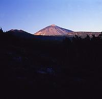 Mount Teide at dusk, Canadas de Teide nacional parque, Tenerife, Canary Islands.