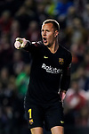 Goalkeeper Marc-Andre Ter Stegen of FC Barcelona gestures during the La Liga 2018-19 match between Rayo Vallecano and FC Barcelona at Estadio de Vallecas, on November 03 2018 in Madrid, Spain. Photo by Diego Gouto / Power Sport Images