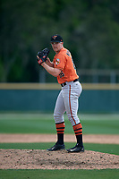 Baltimore Orioles pitcher Jimmy Murphy (86) during a Minor League Spring Training game against the Boston Red Sox on March 20, 2019 at the Buck O'Neil Baseball Complex in Sarasota, Florida.  (Mike Janes/Four Seam Images)