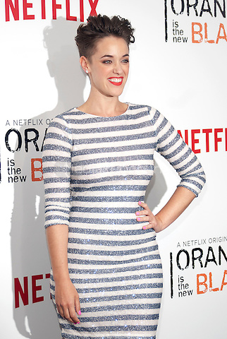NEW YORK, NEW YORK - MAY 15, 2014:  Writer Lauren Morelli attends the Season 2 Premiere of 'Orange is the New Black' hosted by Netflix at The Ziegfeld Theater in New York, New York on Thursday May 15, 2014. Photo credit:RTNHargrove/MediaPunch