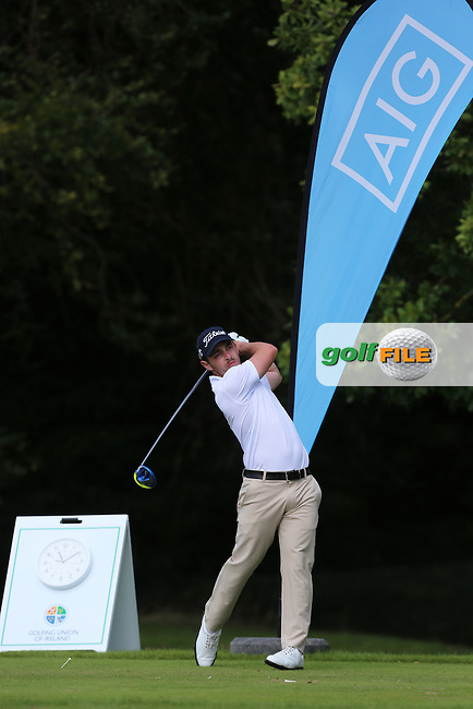 Daniel Holland (Castle) on the 1st tee during the final of the AIG Senior Cup at Carton House.17/9/16<br /> Picture: Golffile   Jenny Matthews<br /> <br /> <br /> All photo usage must carry mandatory copyright credit (&copy; Golffile   Jenny Matthews)