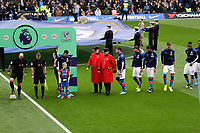 9th November 2019; Stamford Bridge, London, England; English Premier League Football, Chelsea versus Crystal Palace; Chelsea pensiors lead the Crystal Palace starting eleven on the pitch before kick off to mark Remembrance Day before kick off - Strictly Editorial Use Only. No use with unauthorized audio, video, data, fixture lists, club/league logos or 'live' services. Online in-match use limited to 120 images, no video emulation. No use in betting, games or single club/league/player publications