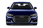 Car photography straight front view of a 2020 Audi A4 Advanced 4 Door Sedan