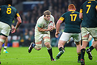 Joe Launchbury of England goes on the attack. Old Mutual Wealth Series International match between England and South Africa on November 12, 2016 at Twickenham Stadium in London, England. Photo by: Patrick Khachfe / Onside Images