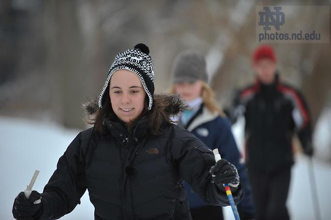 P.E. Cross-Country skiing class...Photo by Matt Cashore/University of Notre Dame