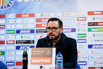 Getafe CF's coach Jose Bordalas during the press conference before La Liga match between Getafe CF and Valencia CF at Coliseum Alfonso Perez in Getafe, Spain. November 10, 2018.