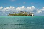 Atoll off Rarotonga, Cook Islands