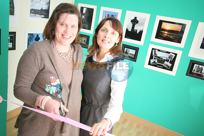 Ina McCrumlish, Louth Leader Partnership with Nicola Coffey, Co-ordinator of Connect at the Photo Exhibition in the Connect Family Resource Centre, Moneymore...Photo NEWSFILE/Jenny Matthews.(Photo credit should read Jenny Matthews/NEWSFILE)....This Picture has been sent you under the condtions enclosed by:.Newsfile Ltd..The Studio,.Millmount Abbey,.Drogheda,.Co Meath..Ireland..Tel: +353(0)41-9871240.Fax: +353(0)41-9871260.GSM: +353(0)86-2500958.email: pictures@newsfile.ie.www.newsfile.ie.FTP: 193.120.102.198.