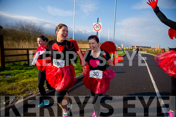 Sarah Jennings and Betty Brosnan, participants in the Kerry's Eye Valentines Weekend 10 mile road race on Sunday.
