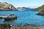 Lake Wanaka viewed from the boat dock of the island of Mou Waho.